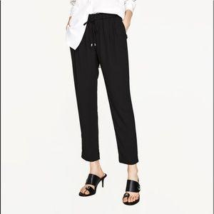 Black Zara Drawstring Pants (NWT)